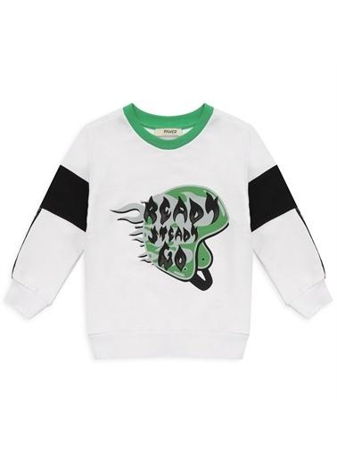 Panço Erkek Çocuk Sweatshirt 2111BK08001 Beyaz